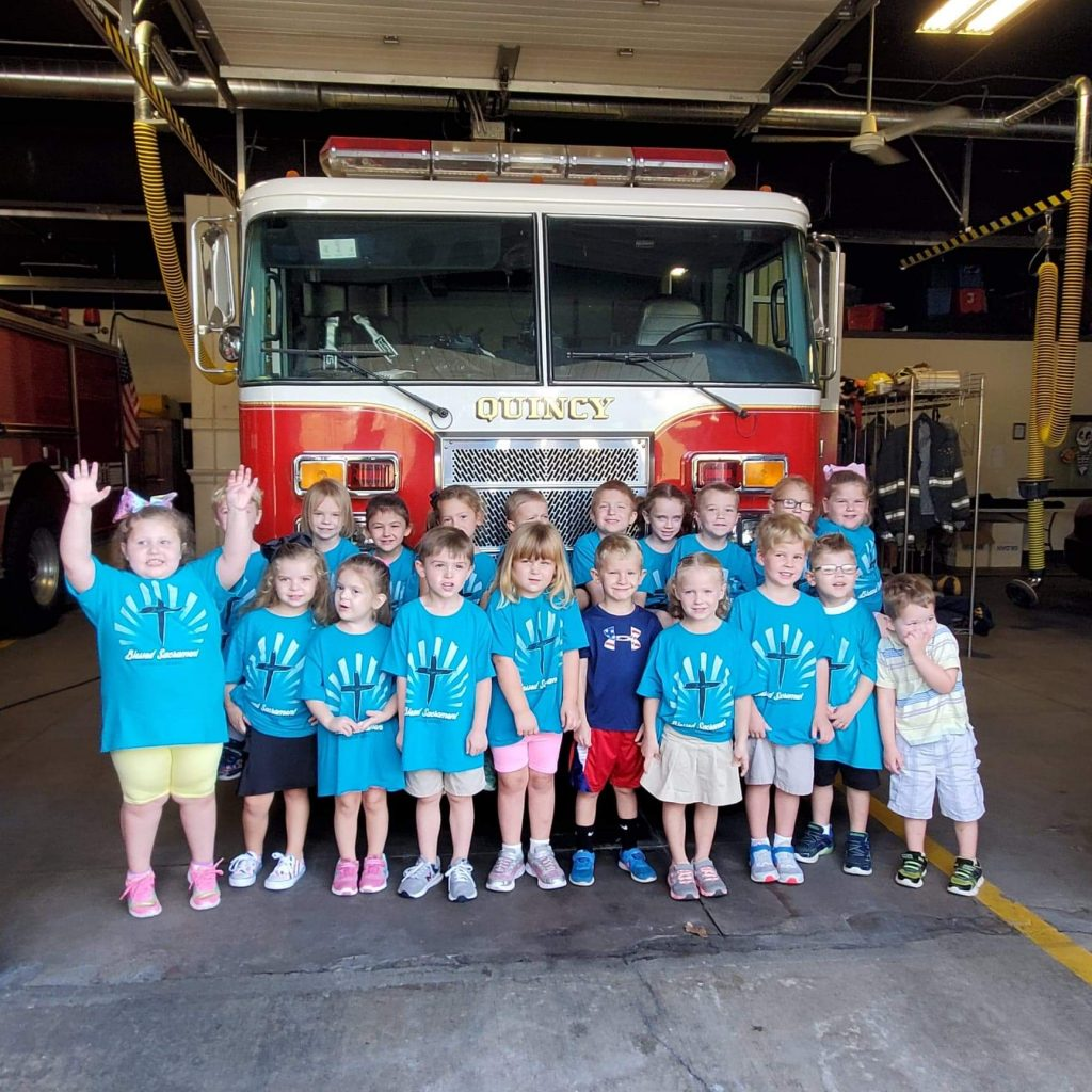 Pre-School 4 years visit the Fire Station